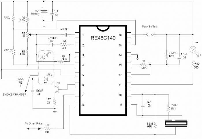smoke detector alarm schematic re46c140 under Repository