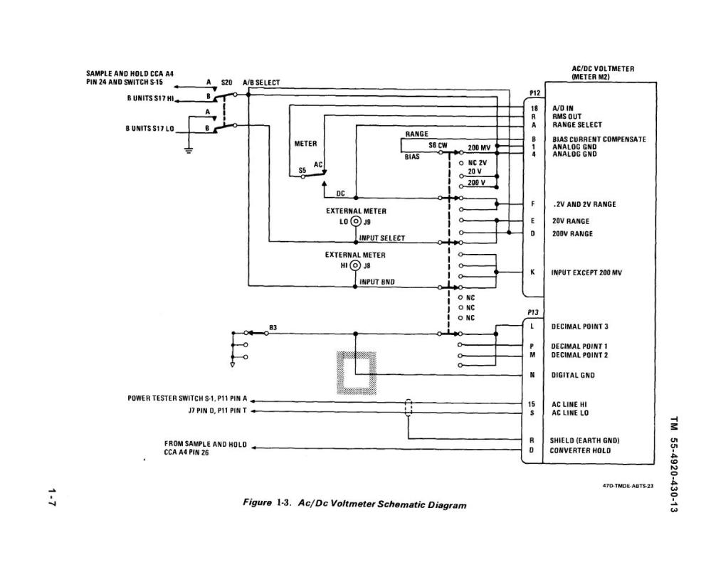 medium resolution of ac dc voltmeter schematic diagram
