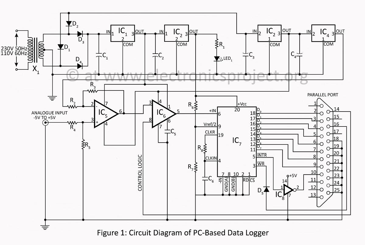 circuit diagram of data logger