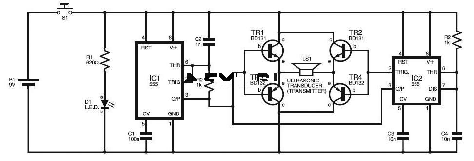 gps jammer pic16f870 microcontroller project circuit