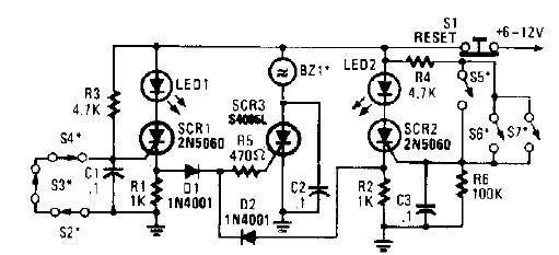 > circuits > scr high power alarm driver circuit design