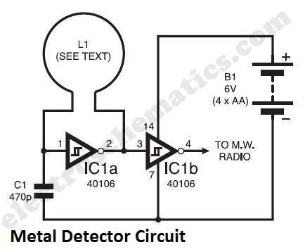 metal detector circuit Page 2 : Sensors Detectors Circuits