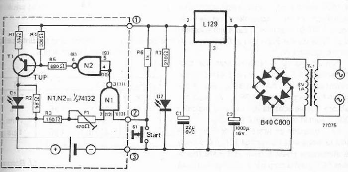 nicd battery charger using common electronic components