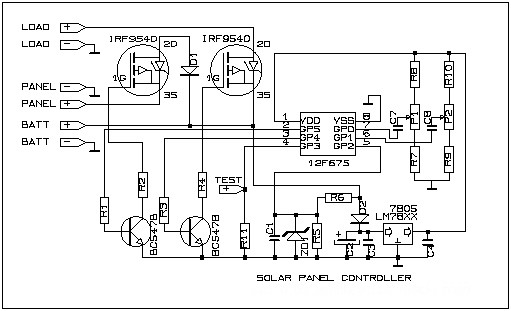 simple solar panel circuit with tlc271