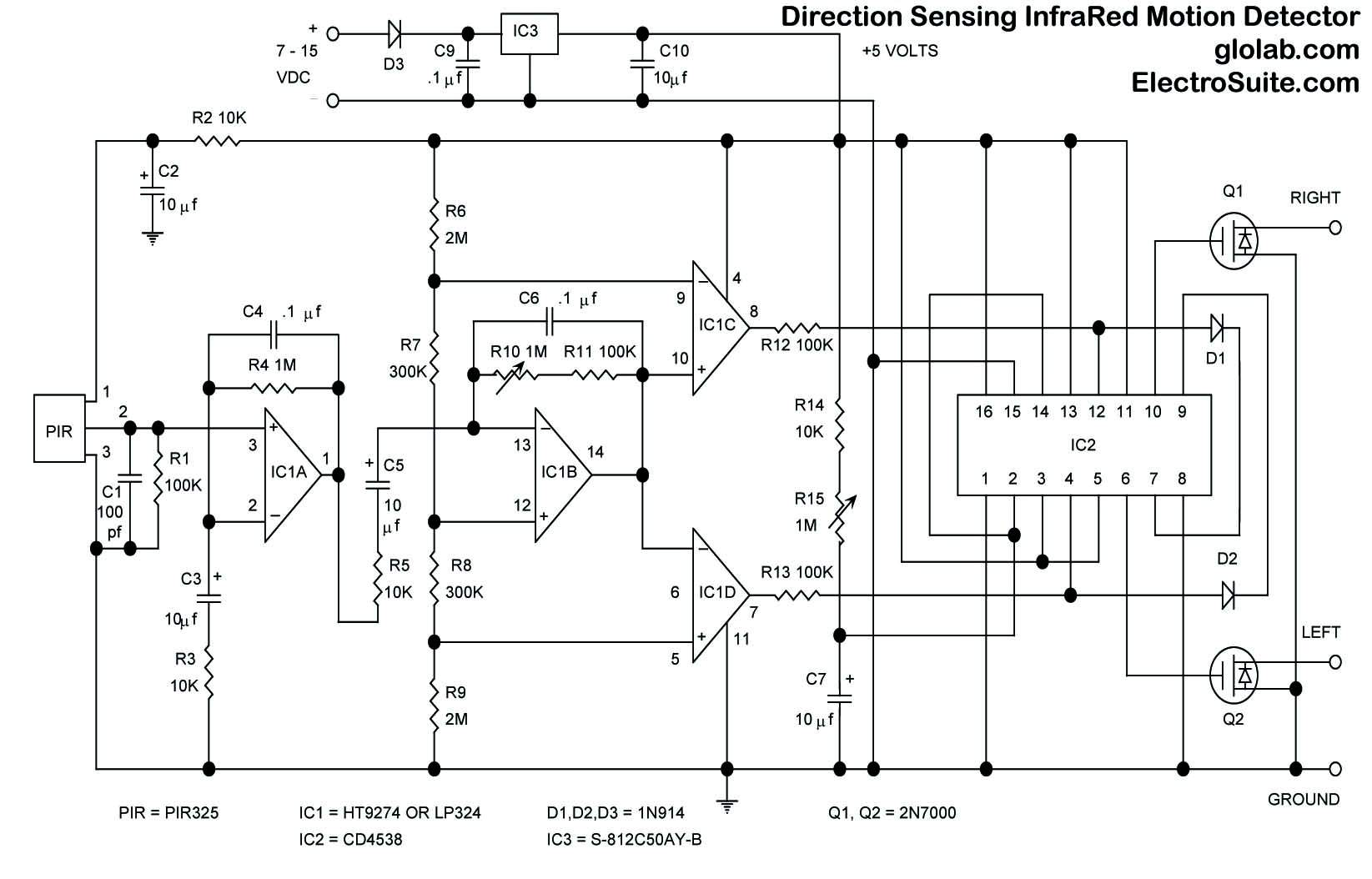Ultrasonic Proximity Detector Circuit