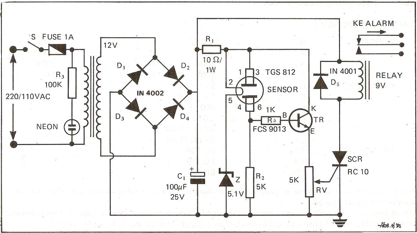 Tgs 812 Gas Leakage Sensor Under Repository Circuits