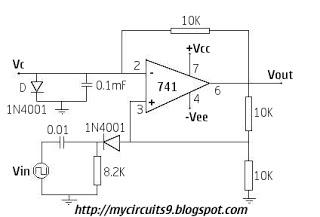 741 Op Amp Circuit Diagrams UA741 Power Amplifier Circuit