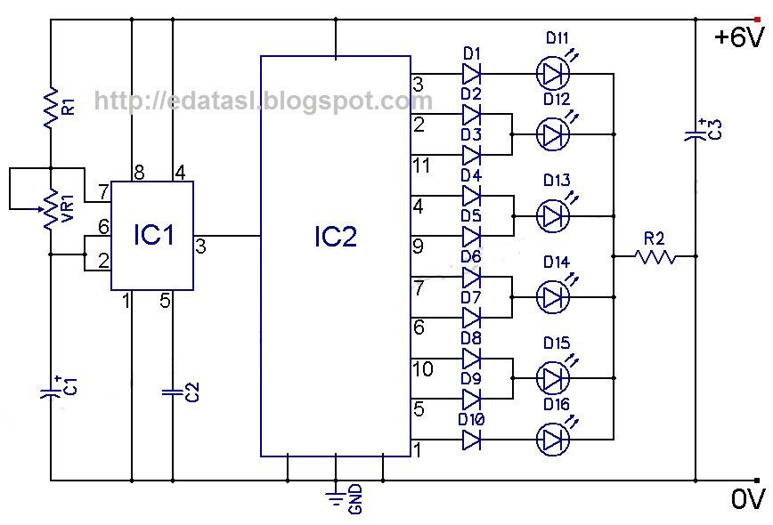 simple traffic light diagram australian box trailer wiring > circuits 4017 cmos decade counter l24906 - next.gr