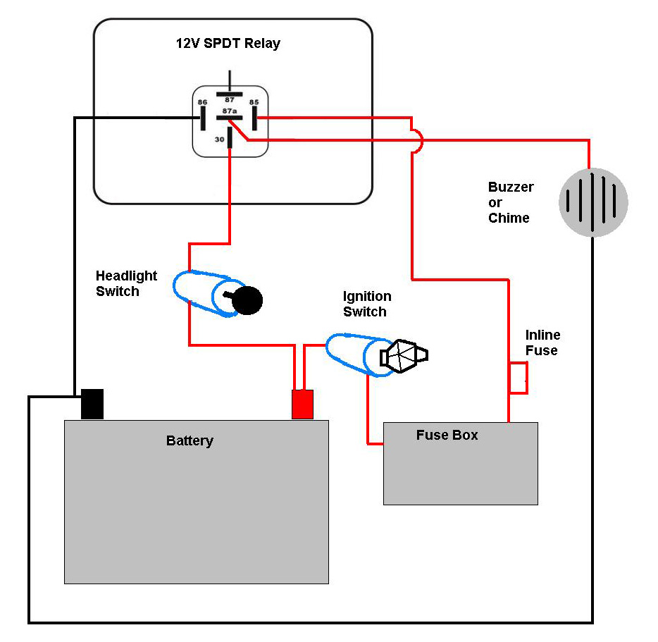 medium resolution of motorcycle headlight with single spdt relay