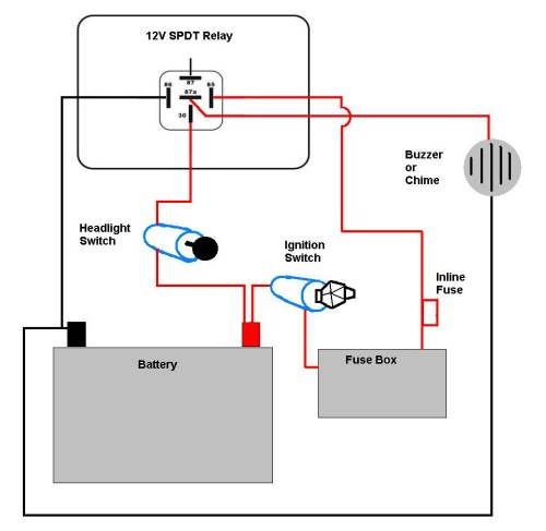 small resolution of motorcycle headlight with single spdt relay