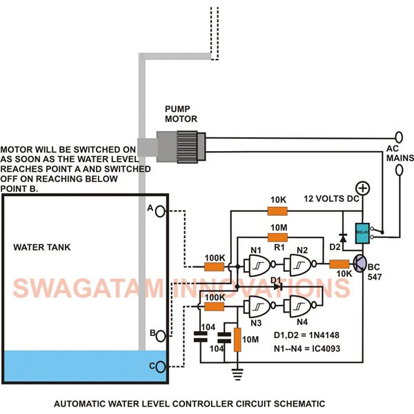 3 phase water pump control panel wiring diagram architectural program and 2 > circuits build this simple electronic level controller l34981 - next.gr