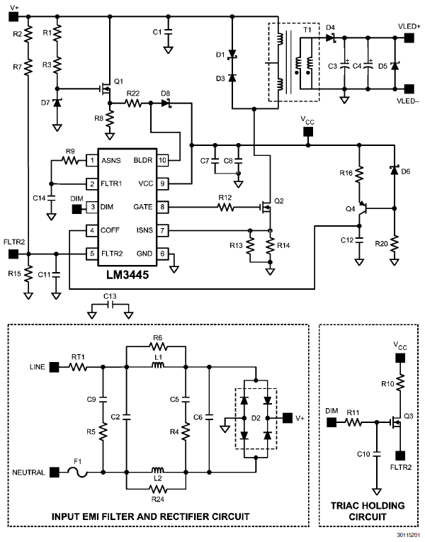 diac triac phase power control without hysteresis