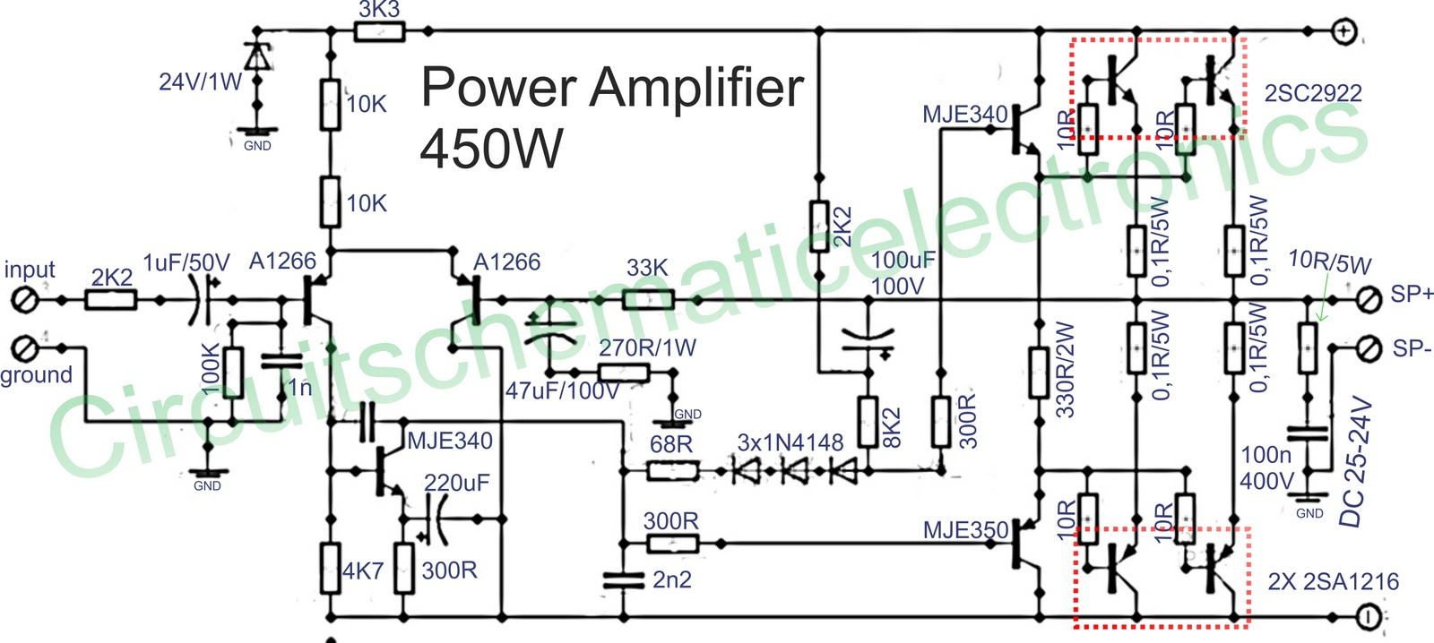 Amplifier Schematics Auto Electrical Wiring Diagram For Spal 30102120