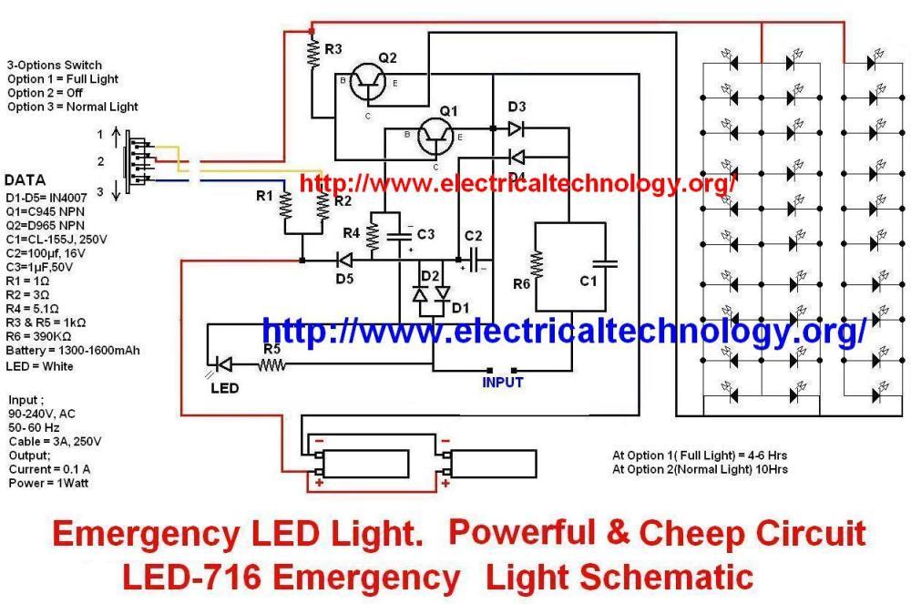medium resolution of emergency led light led 716 emergency light schematic schematic