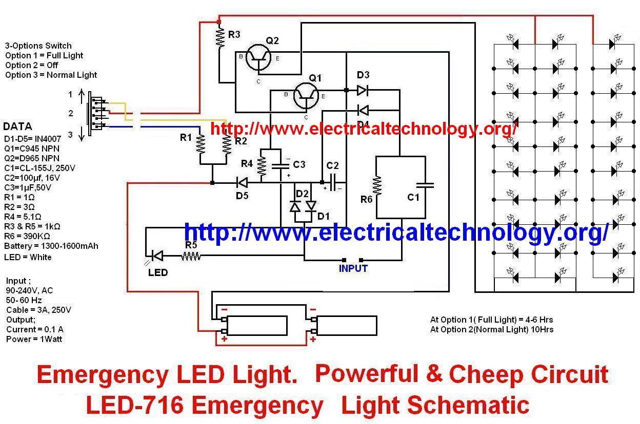hight resolution of emergency led light led 716 emergency light schematic schematic