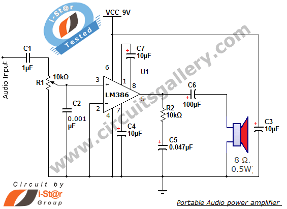 parallel wiring diagram speakers truck lite led 2 simple portable audio power amplifier circuit using lm386 ic : repository - next.gr
