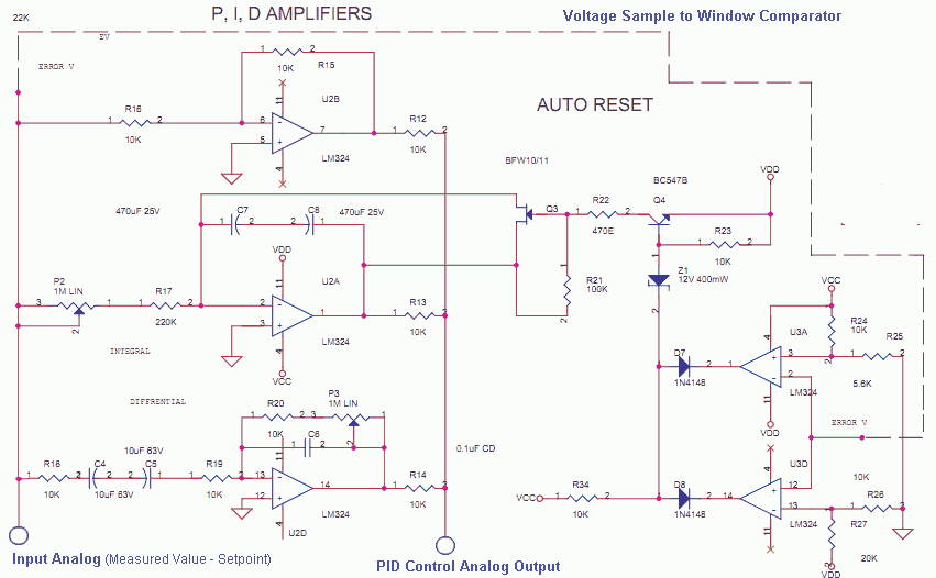 Pid Controller Wiring Diagram 230v Analog Pid Control Using Opamps Under Repository Circuits