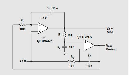 lm324 sine wave oscillator under Repository-circuits