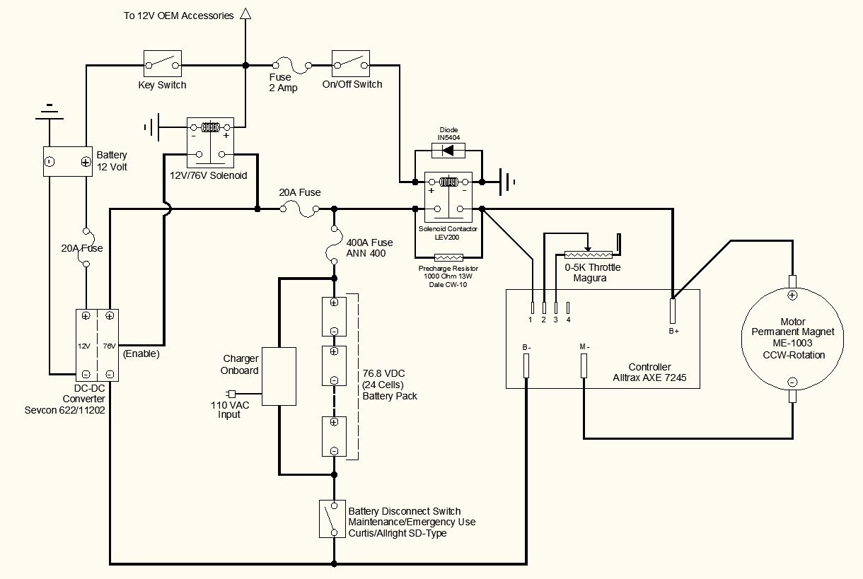 > circuits > Electric Motorcycle Wiring Schematic l26824