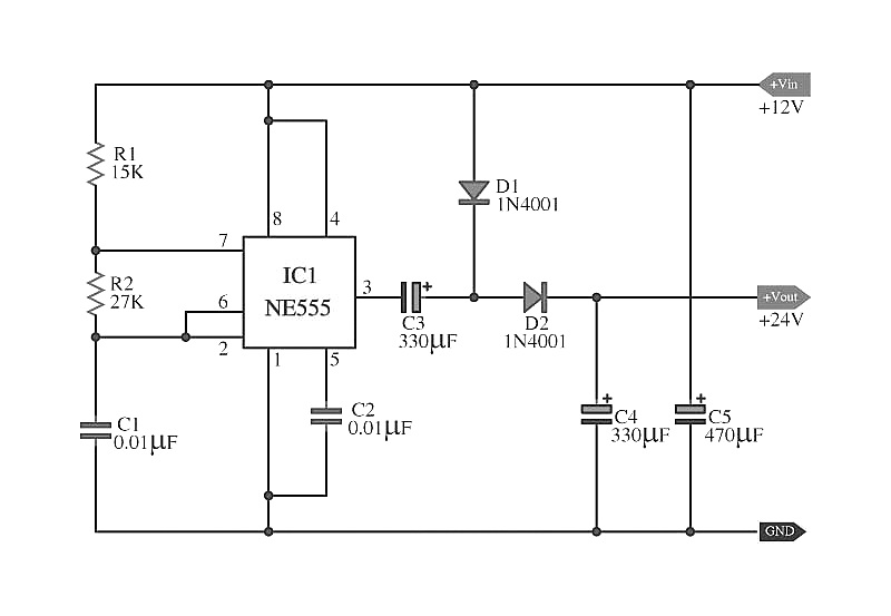 wireless stepper motor control using laser and ic555 schematic