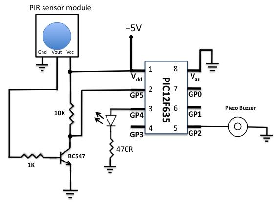 > circuits > motion sensor using pir sensor module l30270