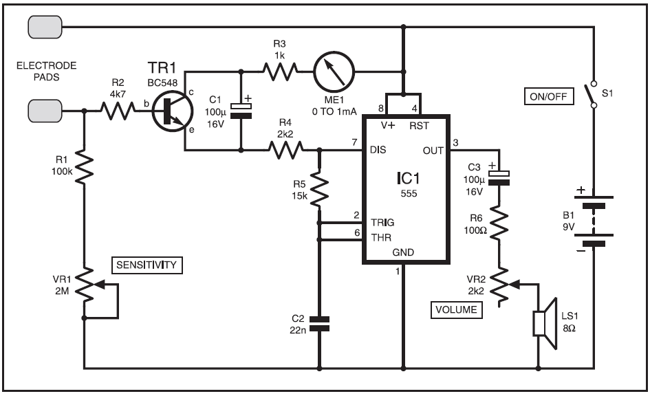Measure your stress level Tension meter Schematic Diagram