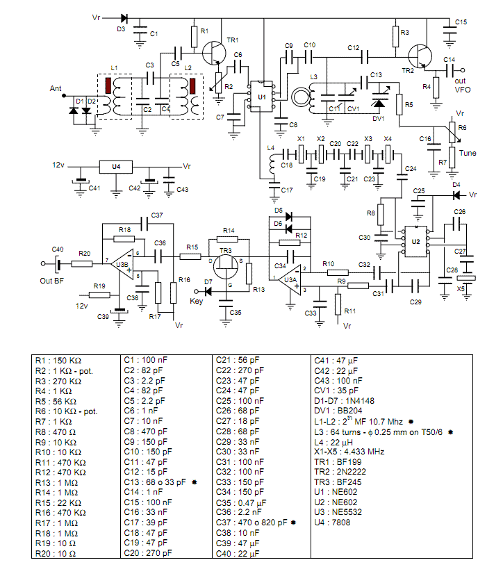Schematic Of 40 Meter Ssb Transceiver HF Handheld