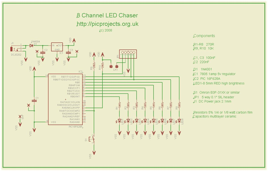 hight resolution of led chaser pwm