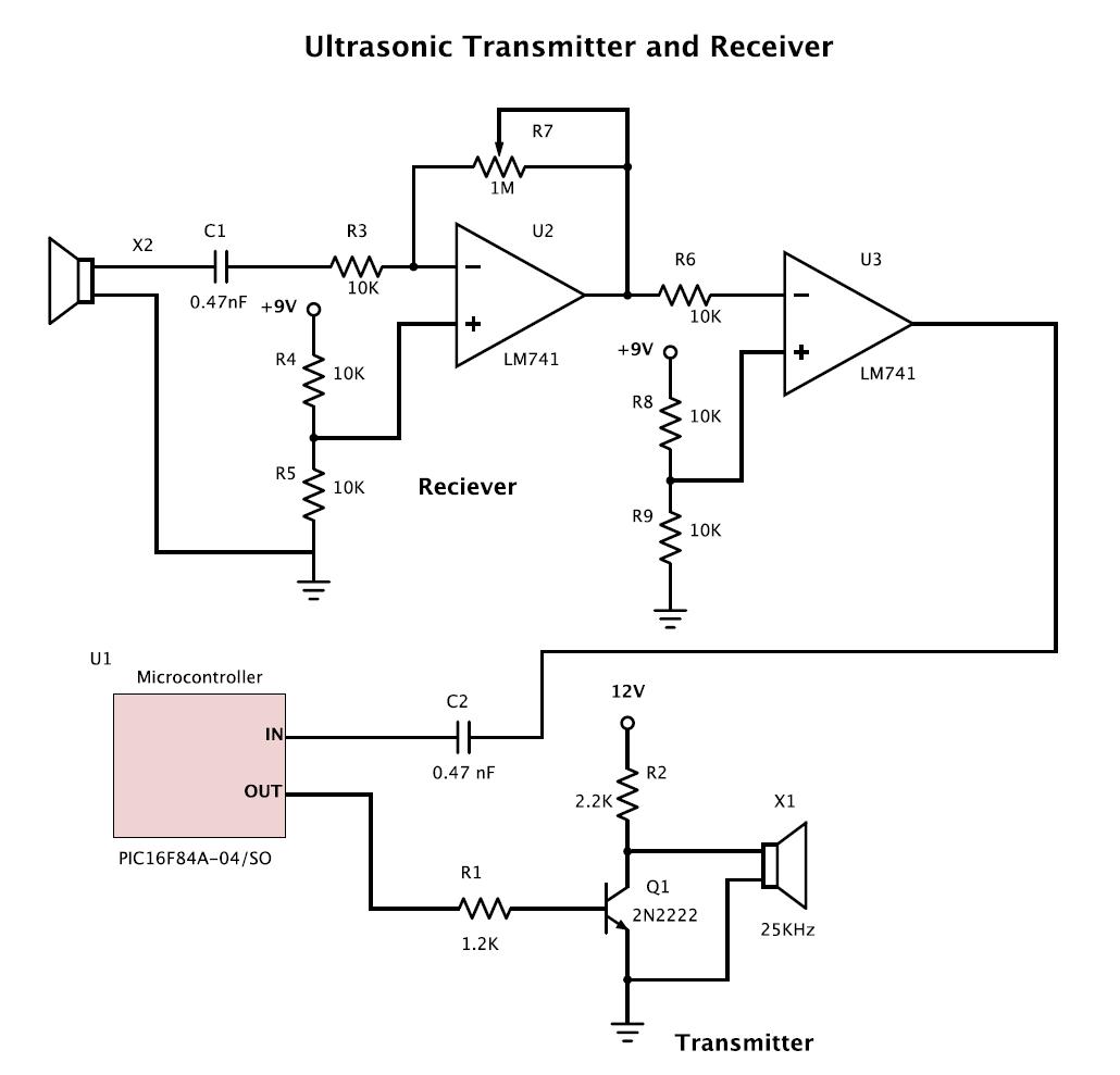 hight resolution of 25 khz ultrasound transducer