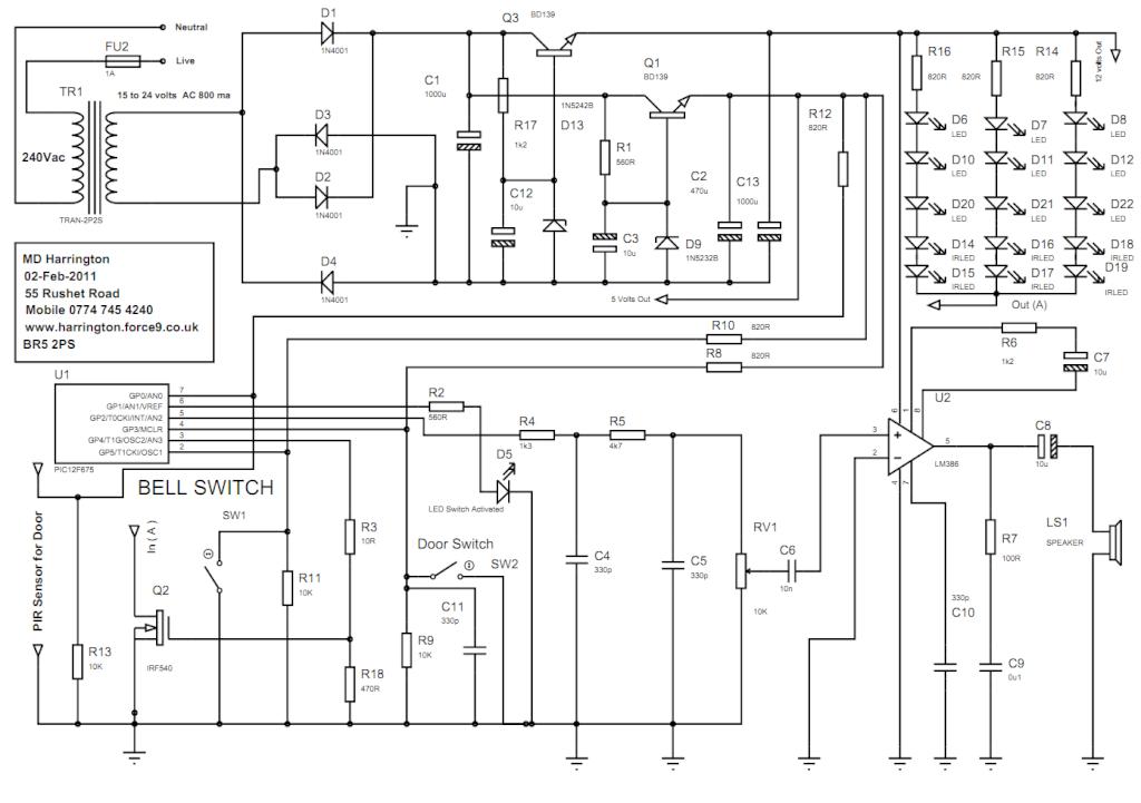 Multiple Bell Doorbell Schematic NuTone Doorbell Wiring