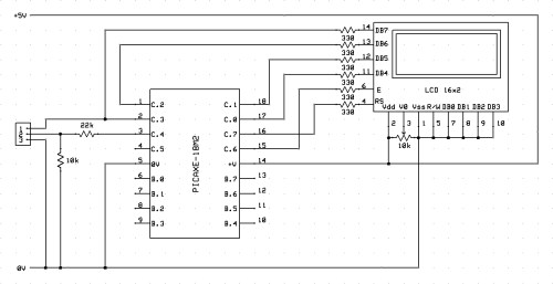 small resolution of connect a lcd to the bottom half of a port the circuit diagram