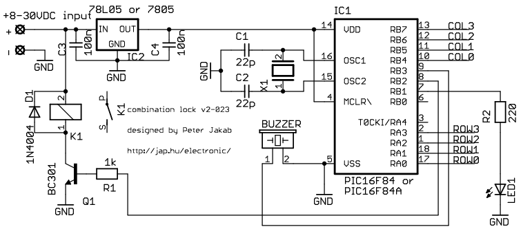 door lock circuit : Security Circuits :: Next.gr