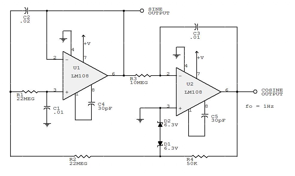 sine wave oscillator circuit Page 6 : Oscillator Circuits