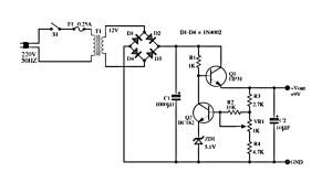 > circuits > 6 12 Volt Adjustable Power Supply Circuit
