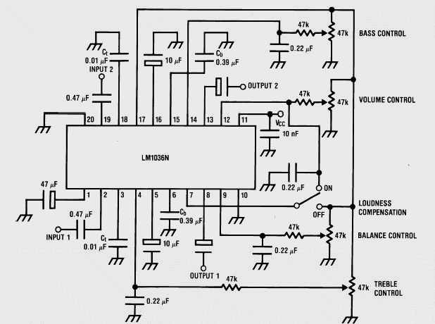 stereo circuit schematic of the adau1592 audio power amplifier