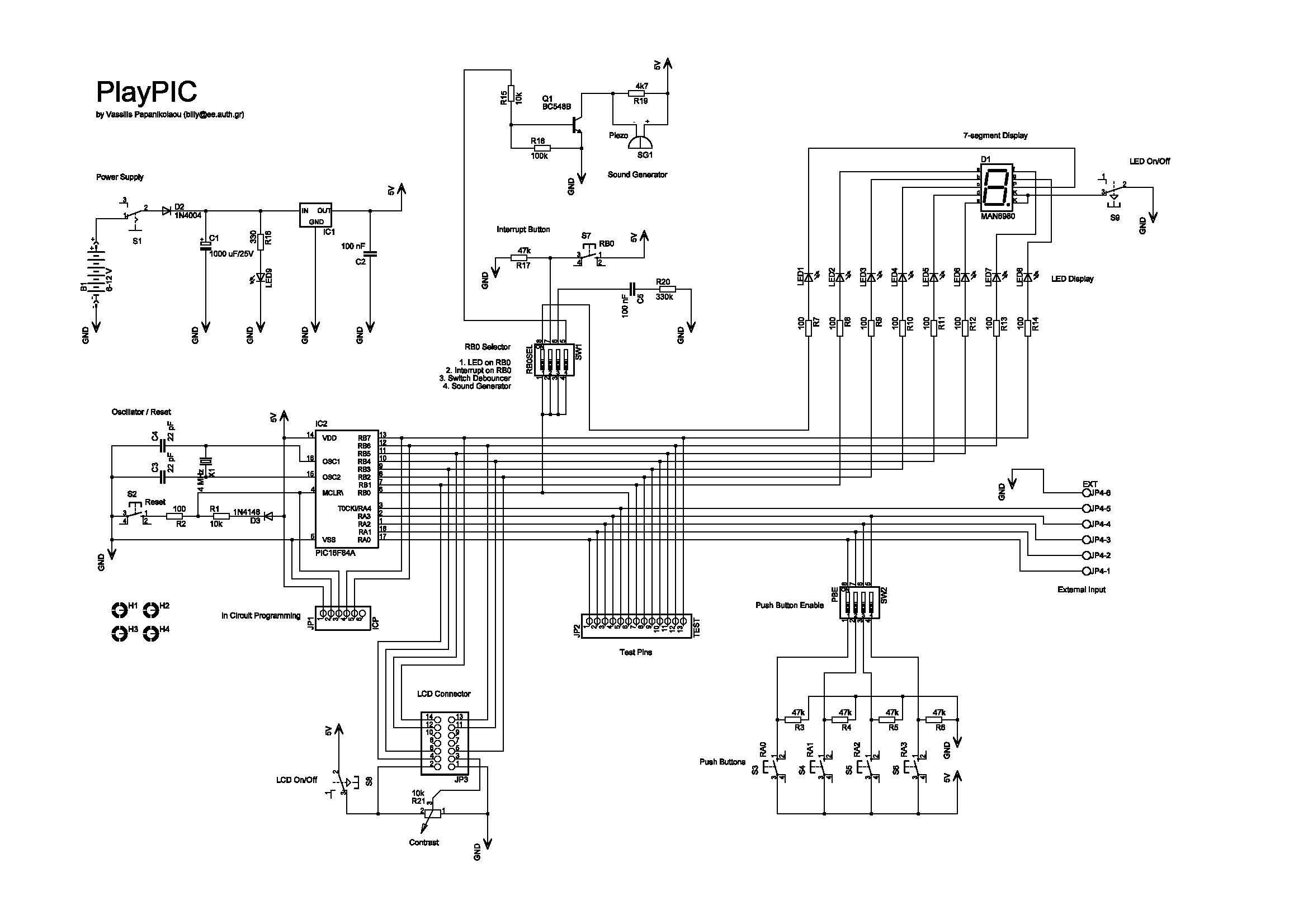 Pic Microcontroller Circuit Microcontroller Circuits