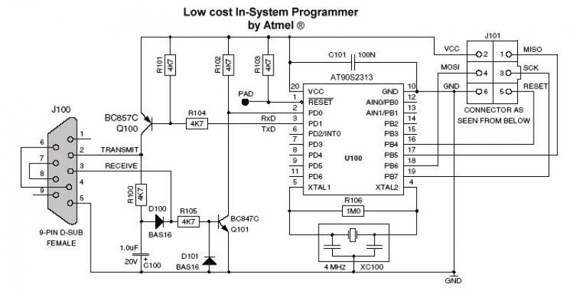 avr microcontroller circuit : Microcontroller Circuits