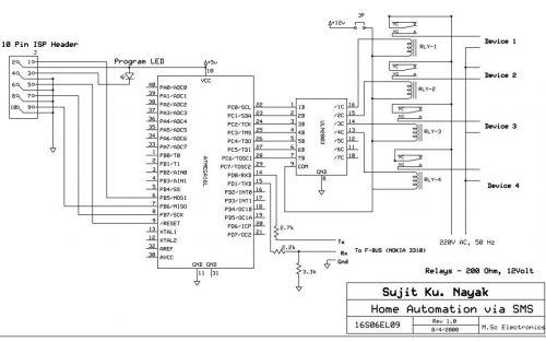 sms based device control using at89s52 amp nokia 3310