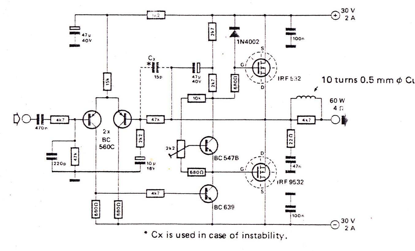 1w audio amplifier circuit using ncp2830