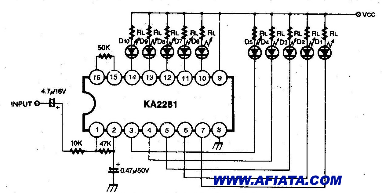 vu meter using uaa180