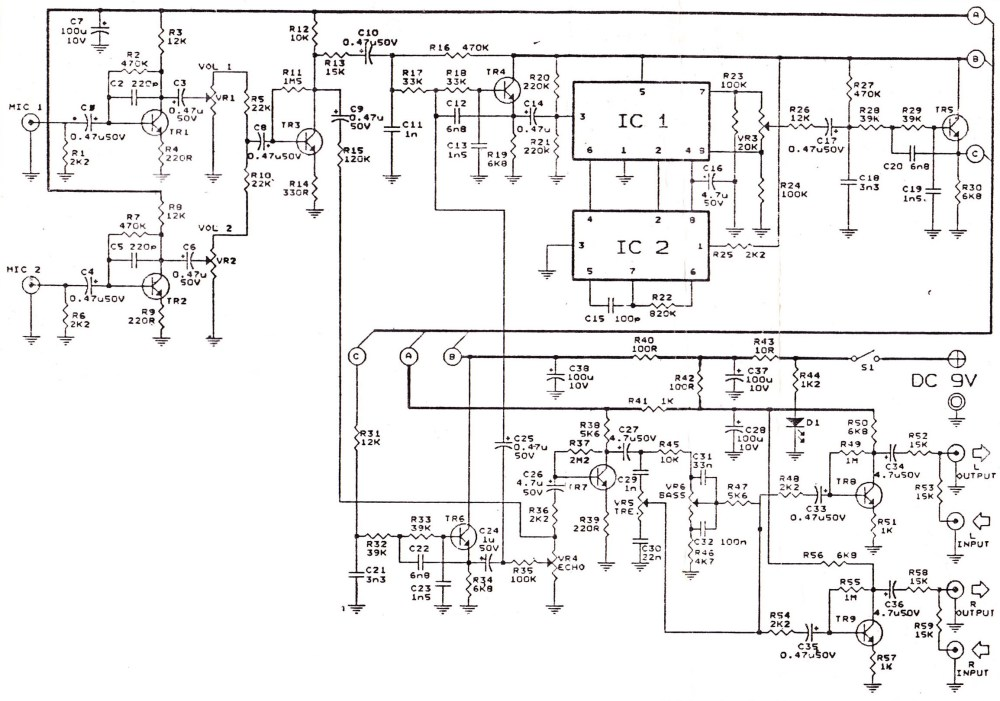 medium resolution of echo repeter and preamp mic schematic wiring diagram viewaudio preamplifiers circuits page 7 audio circuits next