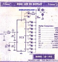 led vu display circuit  [ 1009 x 1005 Pixel ]