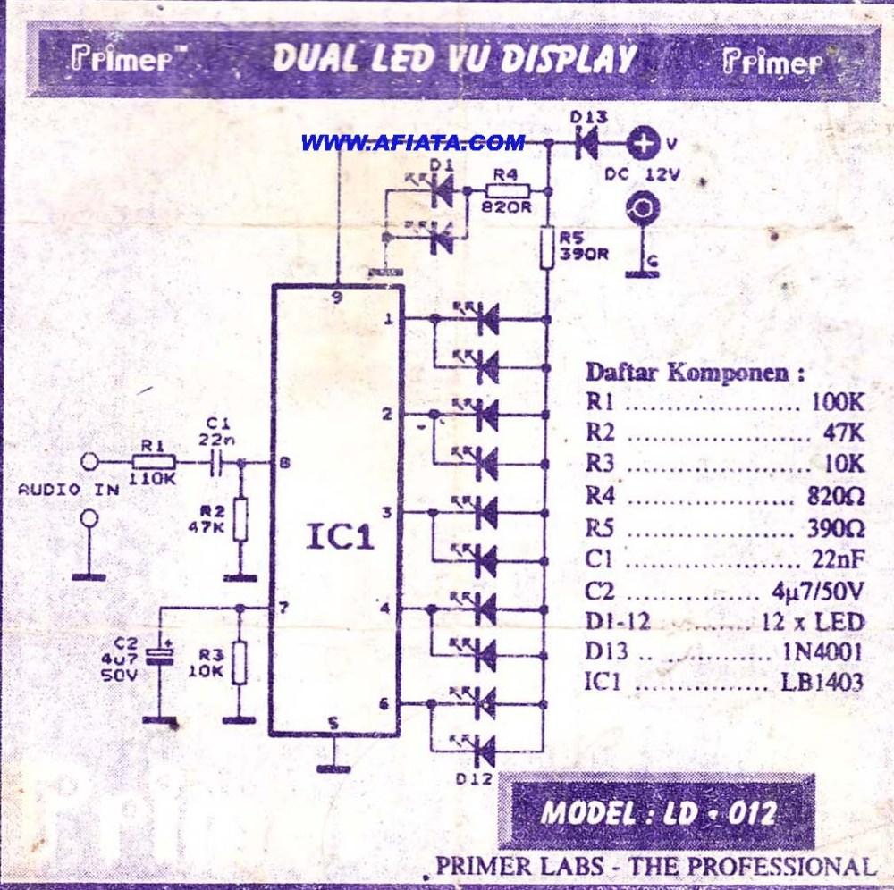 medium resolution of led vu display circuit