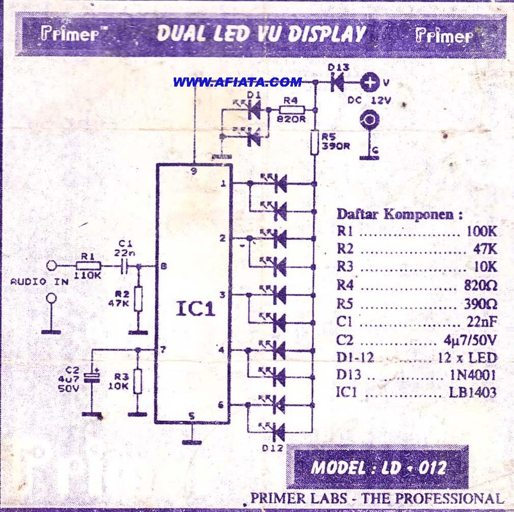 hight resolution of led vu display circuit