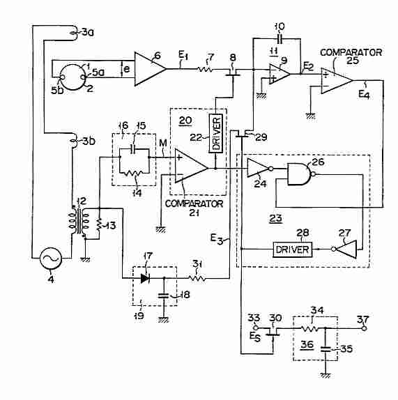 electromagnetic field detector circuit