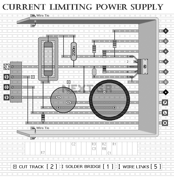 regulated power supply by transistor tip31