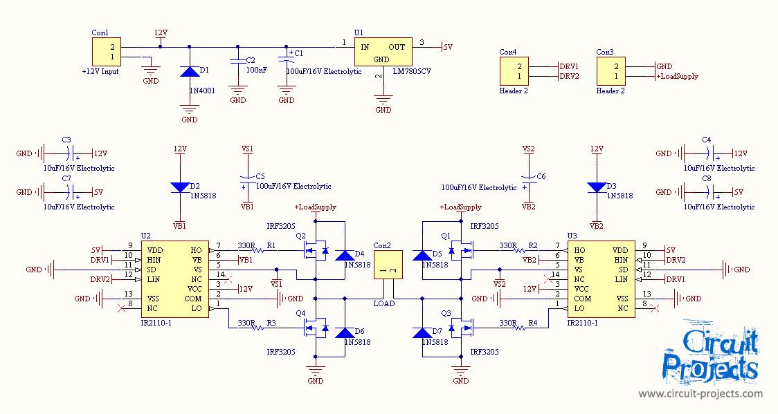 doorbell diagram wire veer blocking schemes > circuits full bridge inverter with mosfet and ir2110 gate driver l39824 - next.gr