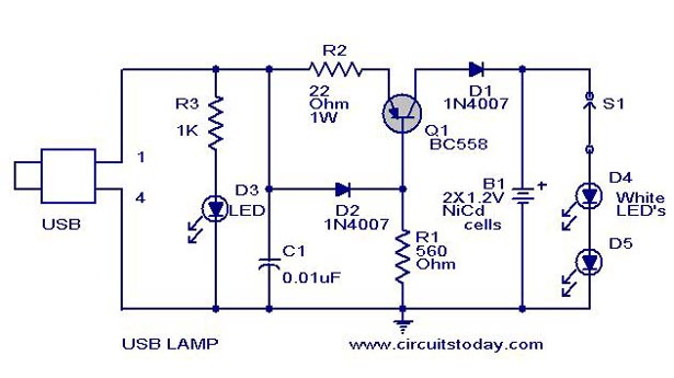 Aldl To Usb Wiring Diagram Usb Led Lamp Circuit Using 5 Volts Under Repository
