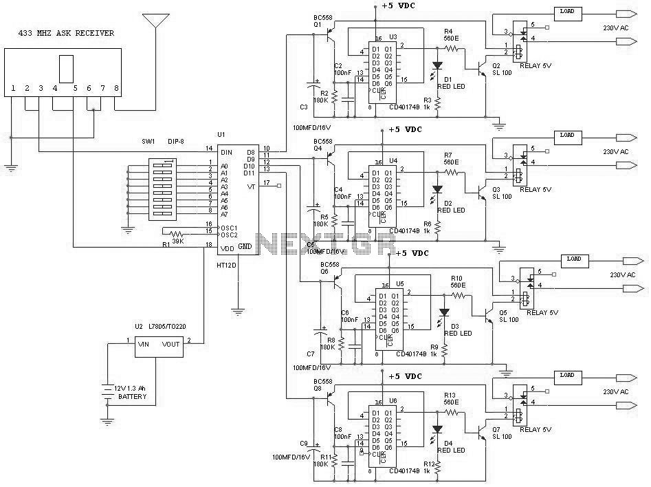 remote control circuit Page 11 : Automation Circuits