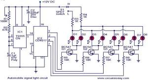 DIY 15 x 3W Orange LED Sequential Turn Signal Project